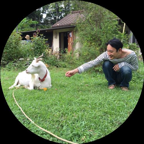 小濱とヤギ